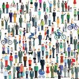 Folkmassa och gemenskap royaltyfri illustrationer