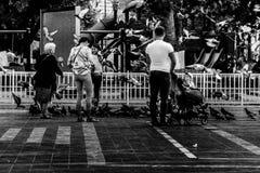 Folkmassa på Cinarcik stadmitt - Turkiet Royaltyfria Foton