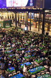 Folkmassa på den öppna händelsen Royaltyfria Foton