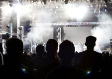 Folkmassa på konserten Royaltyfria Bilder