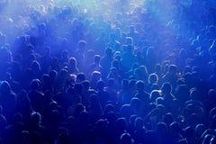 Folkmassa på konserten eller partiet Fotografering för Bildbyråer