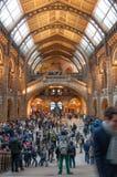 Folkmassa på museet Fotografering för Bildbyråer