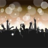 Folkmassa på en konsert Arkivfoto