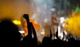 Folkmassa på konserten Royaltyfri Foto