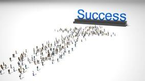 Folkmassa som går till framgång Arkivbild