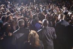 Folkmassa som håller ögonen på Michelle Obama Royaltyfria Foton