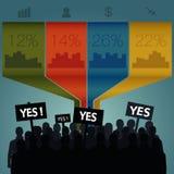 Folkmassa som ut står Infographics Vektor Illustrationer