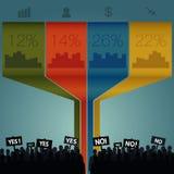 Folkmassa som ut står Infographics Royaltyfri Illustrationer