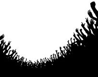 folkmassaförgrund Arkivbild