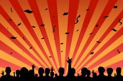 folkmassafestivaldeltagare Royaltyfria Foton