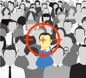 folkmassafolk stock illustrationer
