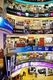 folkmassaict-shopping Royaltyfri Fotografi