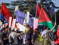 folkmassaisrael protestera Royaltyfri Foto