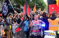 Folkmassaprotest Arkivfoto