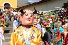Folkore en Cajabamba, Perú Foto de archivo