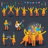 Folkpartisymboler Stock Illustrationer