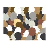 Folkprofilhuvud vektor illustrationer