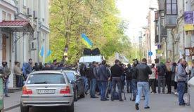 Folkprotestdemonstration Fotografering för Bildbyråer