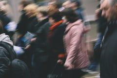 Folkrörelse Fotografering för Bildbyråer