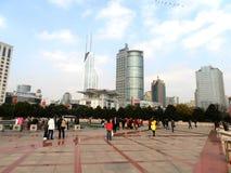 Folks fyrkant, Shanghai Arkivfoto
