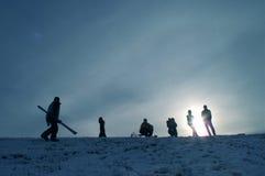 folksilhouettes Fotografering för Bildbyråer