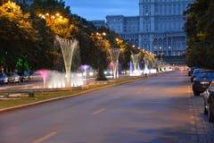 Folkslott Bucharest Rumänien Arkivbild