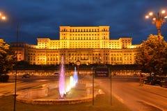 Folkslott Bucharest Rumänien Fotografering för Bildbyråer
