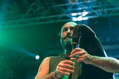 Folkstone στη λέσχη MI 04-11-2017 ζωντανής μουσικής Στοκ Εικόνα