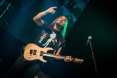 Folkstone στη λέσχη MI 04-11-2017 ζωντανής μουσικής Στοκ Φωτογραφίες