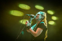 Folkstone στη λέσχη MI 04-11-2017 ζωντανής μουσικής Στοκ φωτογραφία με δικαίωμα ελεύθερης χρήσης