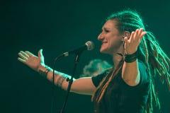 Folkstone στη λέσχη MI 04-11-2017 ζωντανής μουσικής Στοκ Φωτογραφία