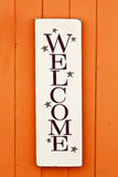 Folksy Welcome Sign Royalty Free Stock Image