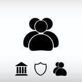 Folksymbol, vektorillustration Sänka designstil Fotografering för Bildbyråer