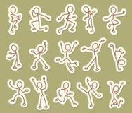 Folksymboler royaltyfri illustrationer