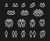 Folksymbolsuppsättning 2 stock illustrationer