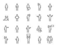 Folksymbolsuppsättning 3 stock illustrationer