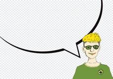 Folktänka och folk som talar med anförandebubblan Arkivfoto