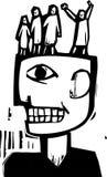 Folktankar royaltyfri illustrationer