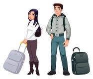 folktransport stock illustrationer