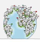 folkvärld royaltyfri illustrationer