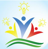 Folkvektor Logo Template Royaltyfria Bilder
