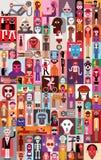 Folkvektorillustration Fotografering för Bildbyråer