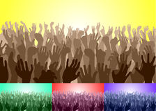 Folla Immagini Stock Libere da Diritti