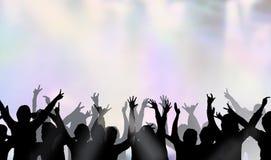 Folla ad una prestazione illustrazione vettoriale