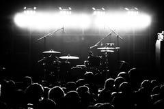 Folla al concerto Fotografia Stock