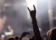 Folla al concerto immagine stock