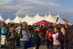 Folla al festival dell'ostrica Fotografie Stock Libere da Diritti