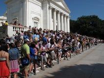 Folla alla cerimonia Fotografia Stock Libera da Diritti