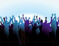 Folla che incoraggia e che si diverte Immagine Stock