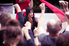 Folla che protesta contro il governo Immagini Stock Libere da Diritti